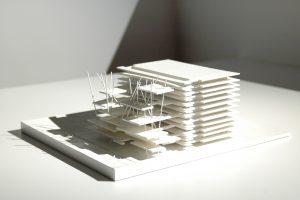 K&+ maquette bibliothèque Prague