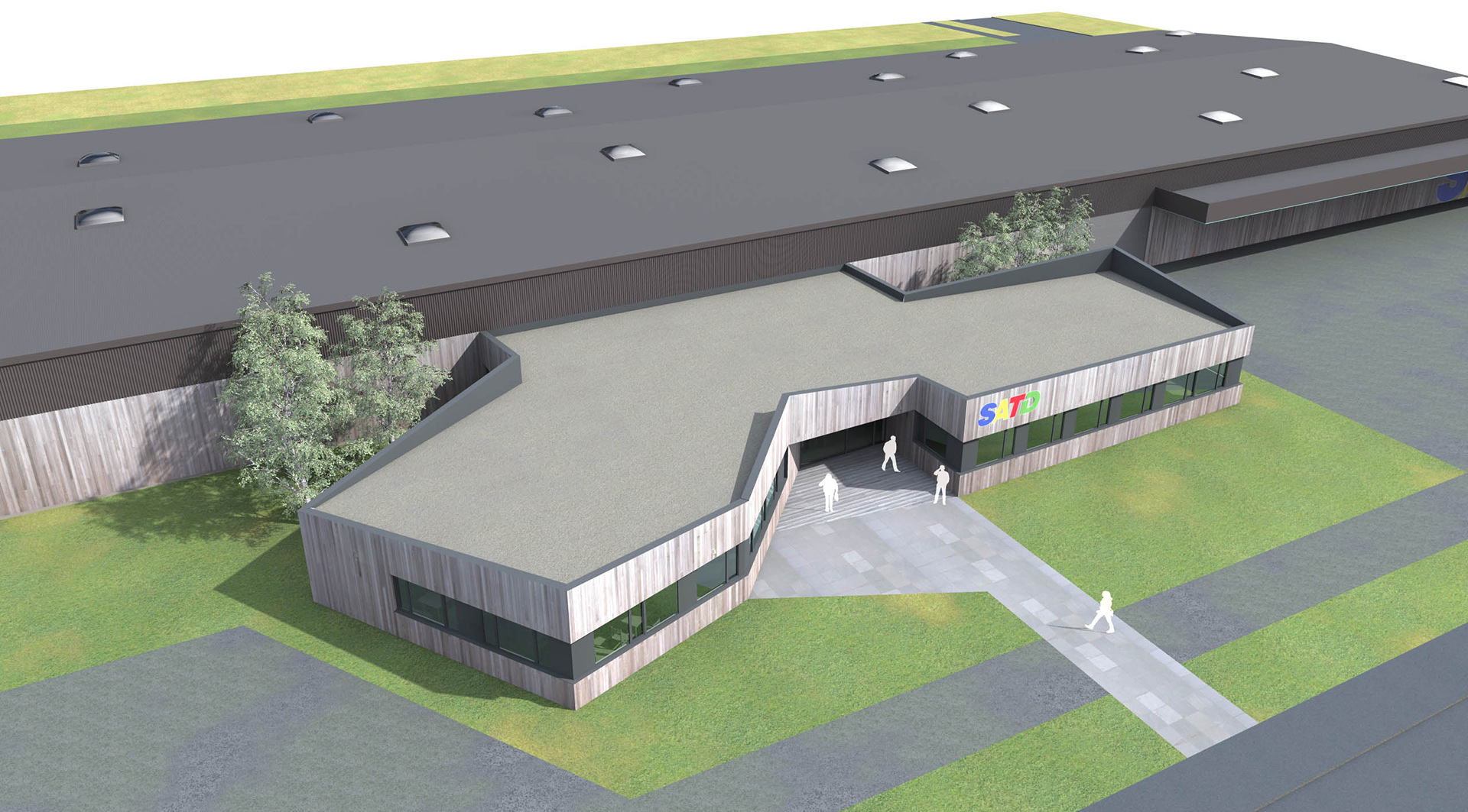 ketplus projet hall industriel satd